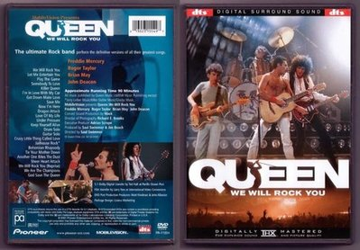 音樂居士#皇后樂隊 Queen We Will Rock You Live (/dts) DVD