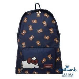 Hallmark X kitty 可收納後背包-藍色 #小日尼三 團購 批發 有優惠 現貨免運不必等#