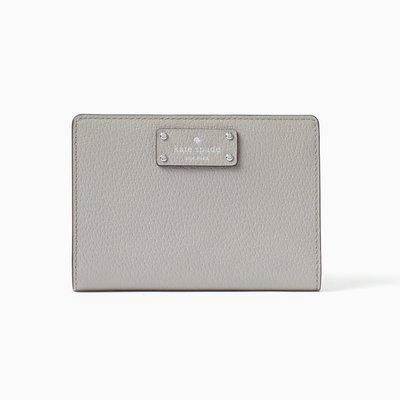 【Kate Spade】正品包郵 現貨 Grove Street Tellie 霧灰色石紋皮短銀包 生日禮物 美國代購 有相位 原裝包裝
