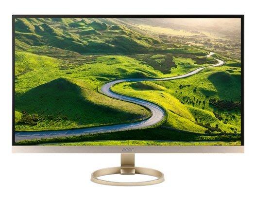 ♥正妹小舖♥ ACER H277HU 27型IPS玫瑰金寬螢幕窄邊框設計/WQHD高解析支援Type-C USB3.1
