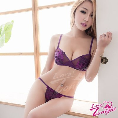 【惑☆夜東京】魅紫誘惑網紗比基尼二件組