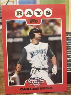 (記得小舖)MLB 2007 Carlos Pena 坦帕灣光芒 普卡1張