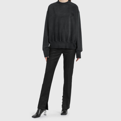 We11done - Slit Wool Trouser 女大熱品牌Logo皮標開扣羊毛褲 超低折扣代購中