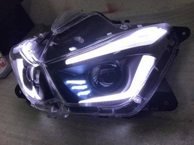 【小港二輪】現貨 FORCE 燈匠 全反射式LED大燈  導光 3D 單近雙遠 雙大燈 LED大燈