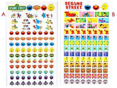 【卡漫迷】 芝麻街 貼紙 2選1 ㊣版 sesame street 日誌貼 裝飾貼 筆記貼 日誌貼 出清 無包裝 日本製