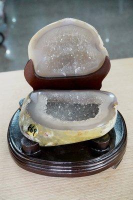 [S.D.小晶洞專賣店] 天然瑪瑙聚寶盆@含座重:869g@