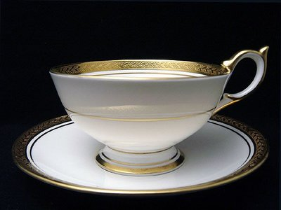 【timekeeper】  英國製Aynsley安茲麗Regency攝政系列重金骨瓷咖啡杯+盤(免運)