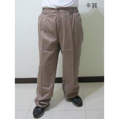 加大尺碼後腰圍鬆緊側貼袋休閒長褲(327-9101-01)卡奇(02)鐵灰.腰圍:38~48英吋單一尺寸 sun-e