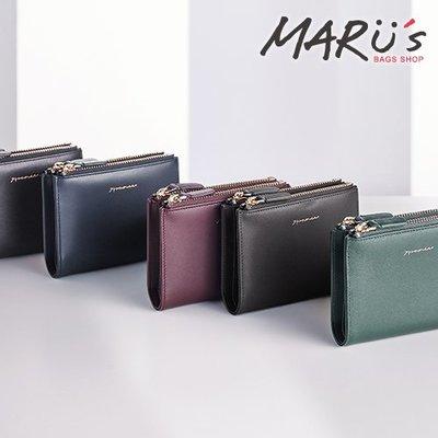 MARU`S BAGS SHOP Elegant 真皮雙拉鍊短夾[LN-757-EL-W]