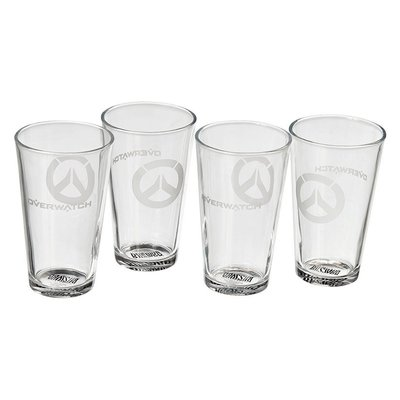 【丹】暴雪商城_Overwatch Pint Glasses (Set of 4) 鬥陣特攻 玻璃杯 四個