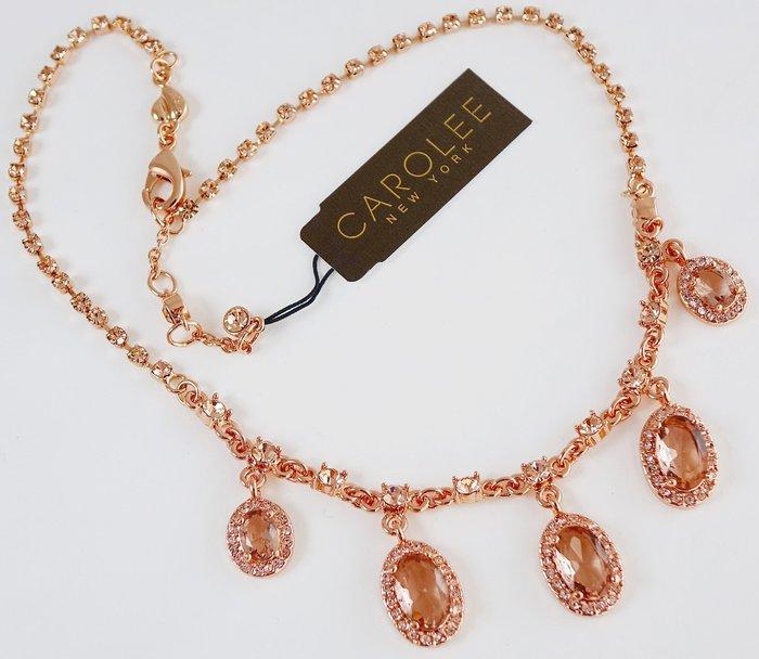 全新美國帶回 CAROLEE 玫瑰金色奢華造型項鍊!附原廠防塵袋與禮盒,只有一件!低價起標無底價!免運費!