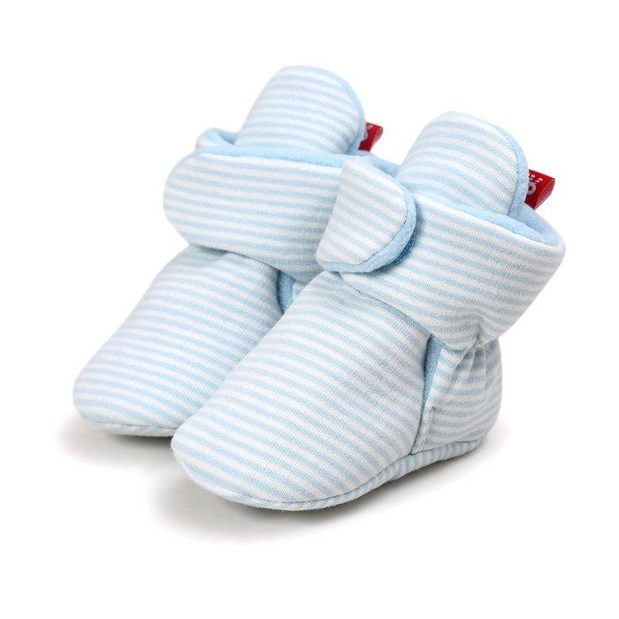 森林寶貝屋~藍條紋不掉靴子~學步鞋~幼兒鞋~寶寶鞋~保暖鞋~嬰兒鞋~棉鞋~童鞋~粘扣設計~彌月送禮~特價125元