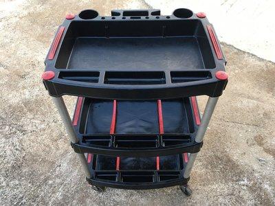 全方位 工具車 塑膠 材質 三層 手推車 工具車 二手  汽車 機車 中古 出清