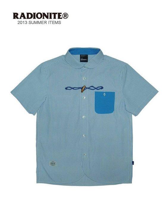 美國東村【RADIONITE】Horn shirt 牛角釦襯衫 淺藍條紋 海軍風
