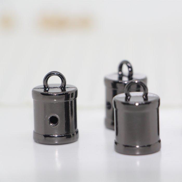 衣萊時尚-金屬吊鐘黑色槍色直筒繩扣流蘇頭diy服裝箱包繩尾扣ep70OAiZZf(規格不同價格不同)