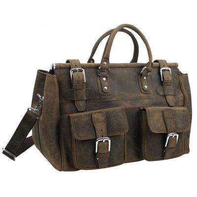 【千里之行】vagabond traveler流浪旅人牛皮革木桿旅行袋公事包L54 DARK DISTRESS暗咖啡磨砂