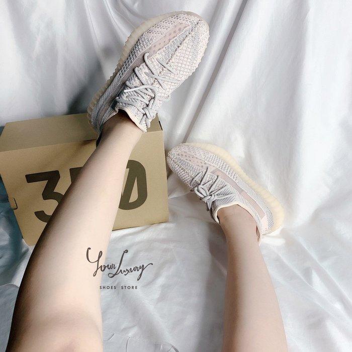 【Luxury】Adidas YEEZY BOOST 350 V2 SYNTH  淡粉紅色調 反光鞋帶 亞州限定色