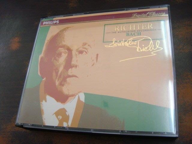 好音悅 半銀圈 Richter 李希特 BACH 巴赫 巴哈 鋼琴 3CD Philips 德PMDC01版 無IFPI