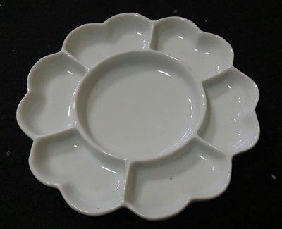 宇陞精品-陶瓷梅花調色盤/碟-7吋(17.5公分)