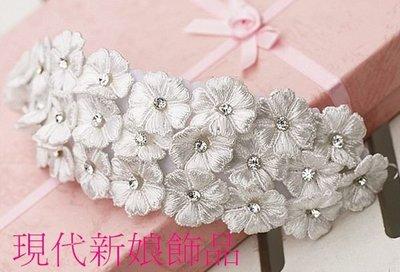新娘飾品 新娘秘書 新秘飾品 新娘飾品 新娘配飾 頭飾~B~2670~白色甜言蜜語頭花