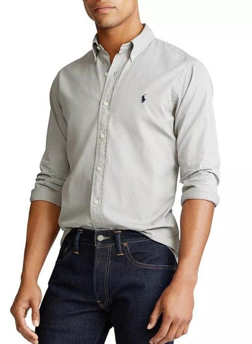 POLO Ralph Lauren 小馬 長袖 襯衫 現貨 成人款 灰色