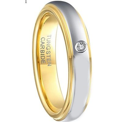 coi jewelry tungsten carbide cubic zirconia wedding band ring 戒指
