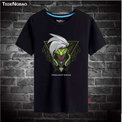 【SeVeN's Shop】精選代購 LOL英雄聯盟 時間刺客-艾克 男女 短袖 T恤 上衣 大尺碼