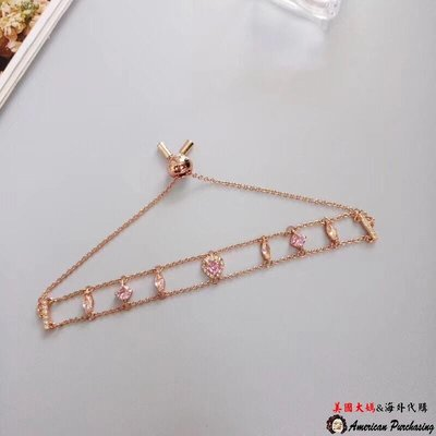 美國大媽代購 SWAROVSKI 施華洛世奇 浪漫愛心雙排手鍊 首飾 歐美代購