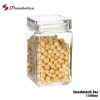 Pasabahce Landmark Jar 1300ml 玻璃磚塊形儲物罐 儲物罐 密封罐