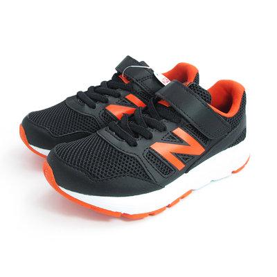 NEW BALANCE 570 運動鞋 中童鞋 大童鞋 WIDE 寬楦 透氣 黑橘N# YT570CRZ