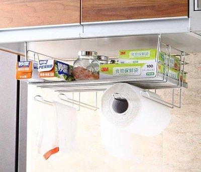 ☆成志金屬☆免鑽孔S-99-1A304不鏽鋼吊式收納棚、廚房置物架,可放置紙巾抹布鍋蓋調味罐