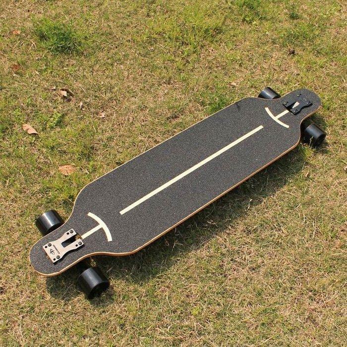 長板公路滑板四輪滑板車青少年韓國刷街男女生舞板成人滑板初學者