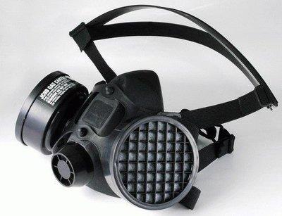 WIN 五金 雙罐式防毒面具(面罩)ce認證呼吸防護系列 防塵口罩 活性碳口罩