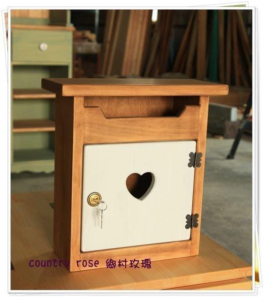 木製手作信箱  郵件桶  顏色可換(最多兩色)  天然環保木臘上色