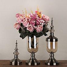 〖洋碼頭〗新古典客廳玻璃透明花瓶仿真插花擺件家居裝飾品餐桌電視櫃樣板房 ysh327