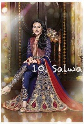 10. 旁遮普喬治紗莎爾瓦套裝 Salwar suit 印度舞衣莎麗紗麗 寶萊塢明星款 Saree Sari