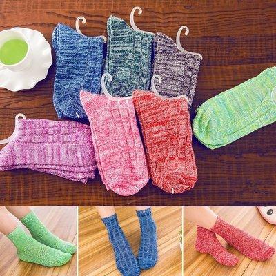 韓版秋冬保暖棉襪 加厚針織女襪-艾發現