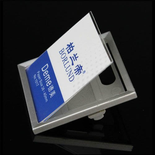 5Cgo 【批發】含稅會員有優惠 15809133435 別針胸牌名牌胸卡可換姓名牌工牌 紙尺寸38*40mm(10個裝