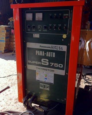 {中古焊接設備維修買賣出租}Panasonic super s 750A大出力CO2焊機~氬焊機~電容式點焊機