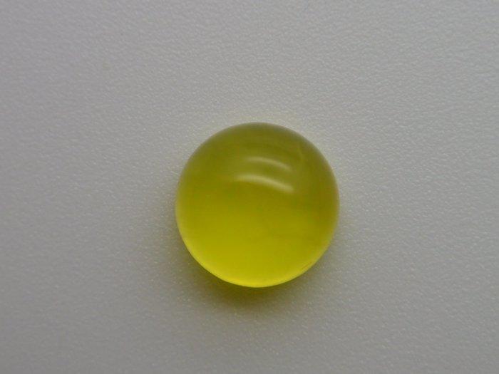 《葡萄石專區》《裸石》天然黃金色圓型 葡萄石(prehnite)裸石 蛋面 戒面 4.055CT