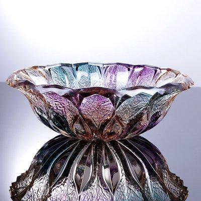 hello小店#創意歐式風格時尚水果盤家用超大號玻璃水晶果盤客廳現代干果盤#糖果罐#果盤#收納罐