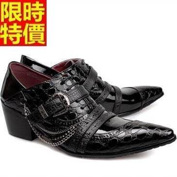 尖頭鞋 真皮皮鞋-經典款英倫潮流時尚增高男鞋子65ai20[獨家進口][米蘭精品]