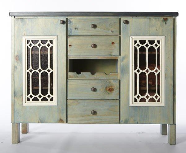 原木工坊~ 實木家具手工製作  美式鄉村風雙色收納櫃