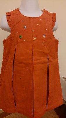麗嬰房日系Familiar專櫃橘色背心洋裝