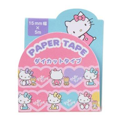 Hello Kitty KT 粉紅多彩愛心滿滿 紙膠帶 PAPER TAPE
