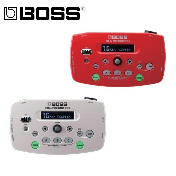 ☆唐尼樂器︵☆公司貨分期免運 BOSS VE-5 Vocal Echo 人聲 和聲 主唱 效果器 VE5