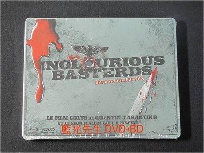 [藍光BD] - 惡棍特工 Inglorious Bastards BD + DVD 三碟限量鐵盒珍藏版