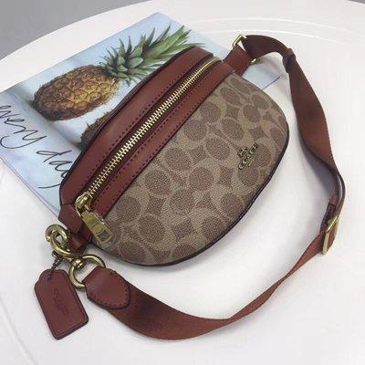 琪琪OUTLET代購 COACH 39937 新款復古拼色女士Selena Balt Bag腰包 胸包斜挎包 附代購憑證
