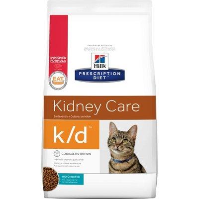 希爾思 希爾斯 Hills 貓用 處方飼料 k/d kd 腎臟 海魚口味 4磅 [10375] 現金專區