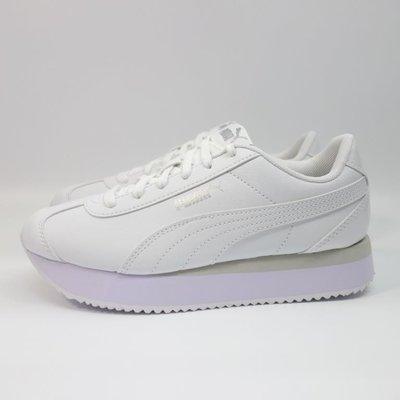 [麥修斯]PUMA TURINO STACKED SNAKE 休閒鞋 小白鞋 氣墊鞋 增高 女款 37414201